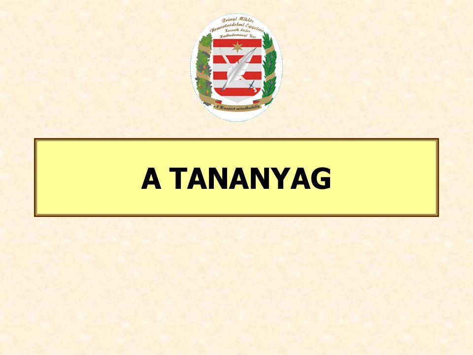 A TANANYAG