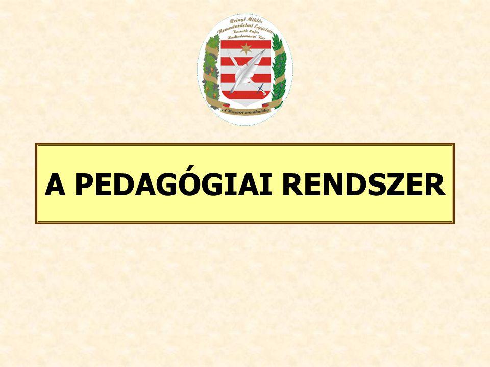 A PEDAGÓGIAI RENDSZER