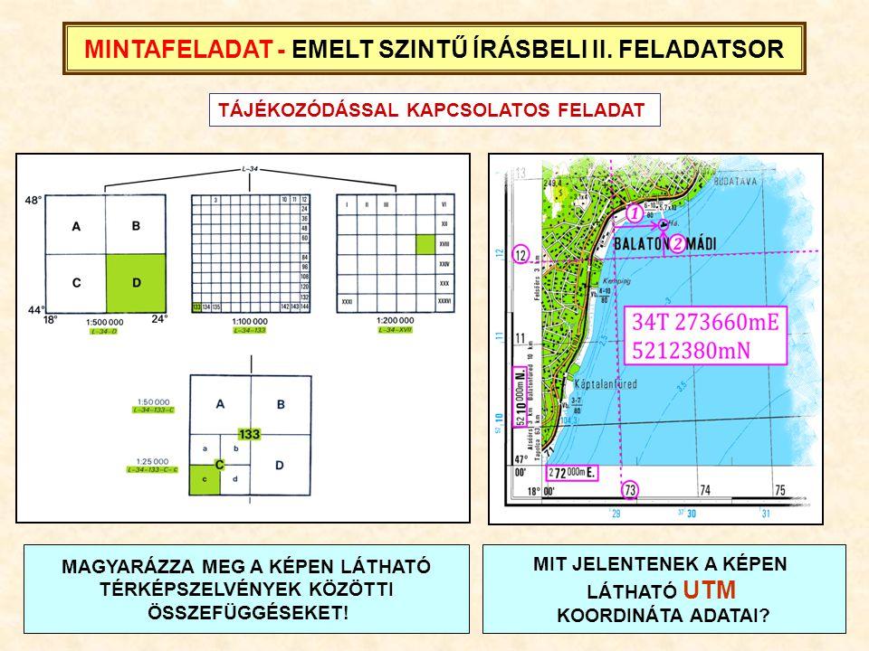 MINTAFELADAT - EMELT SZINTŰ ÍRÁSBELI II. FELADATSOR