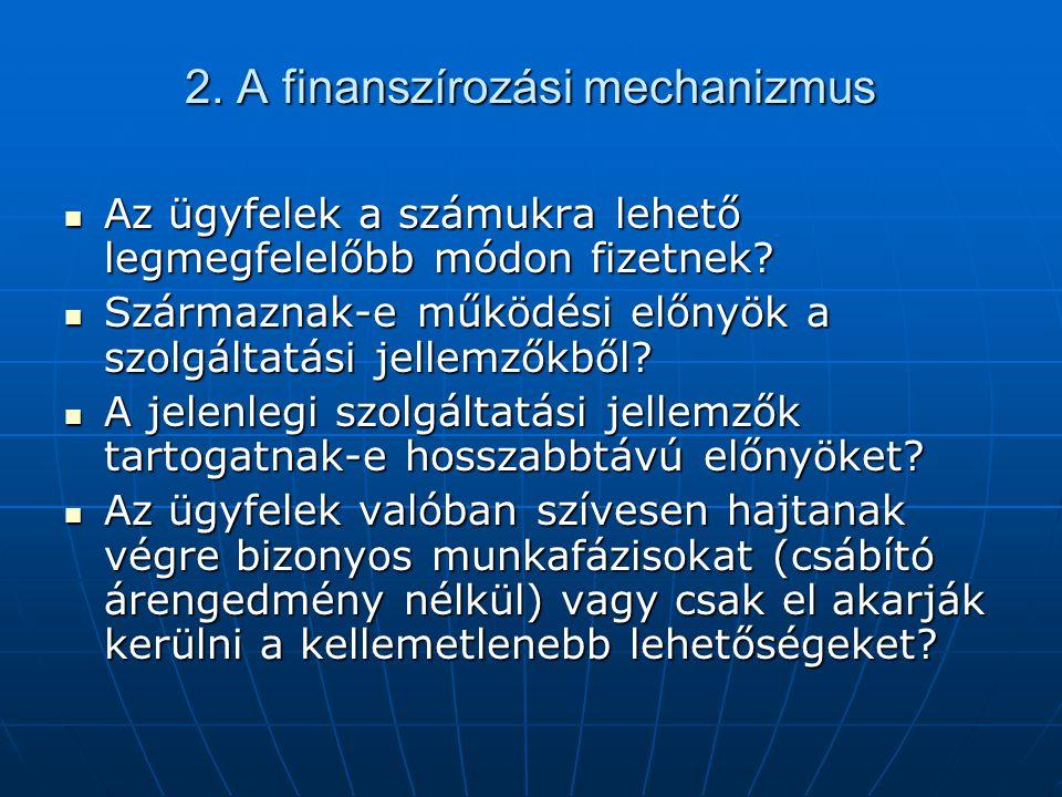 2. A finanszírozási mechanizmus