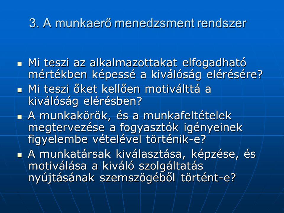 3. A munkaerő menedzsment rendszer