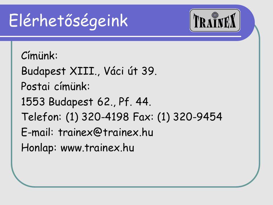Elérhetőségeink Címünk: Budapest XIII., Váci út 39. Postai címünk: