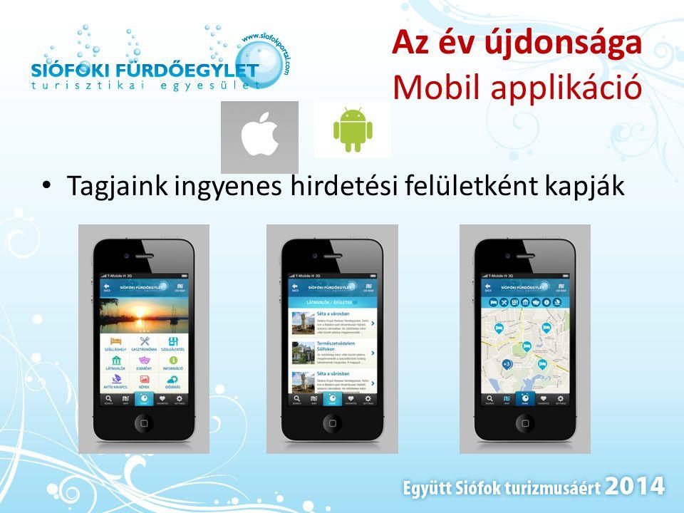Az év újdonsága Mobil applikáció