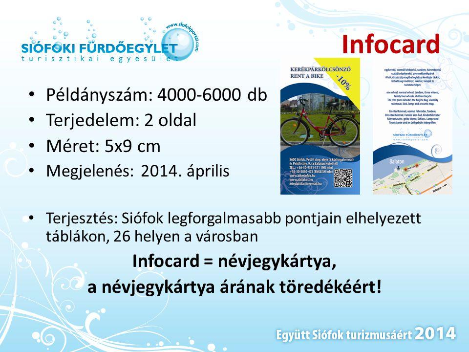 Infocard = névjegykártya, a névjegykártya árának töredékéért!