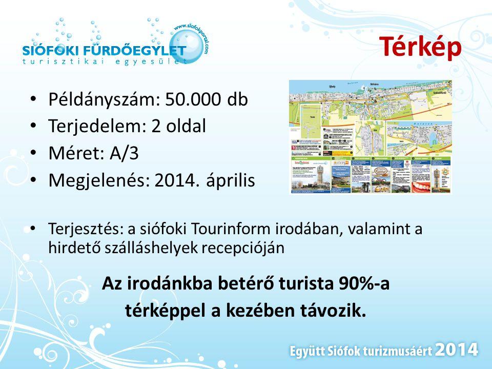 Az irodánkba betérő turista 90%-a térképpel a kezében távozik.
