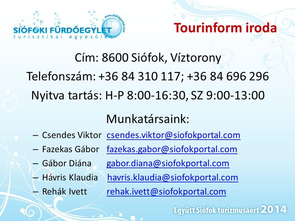 Nyitva tartás: H-P 8:00-16:30, SZ 9:00-13:00