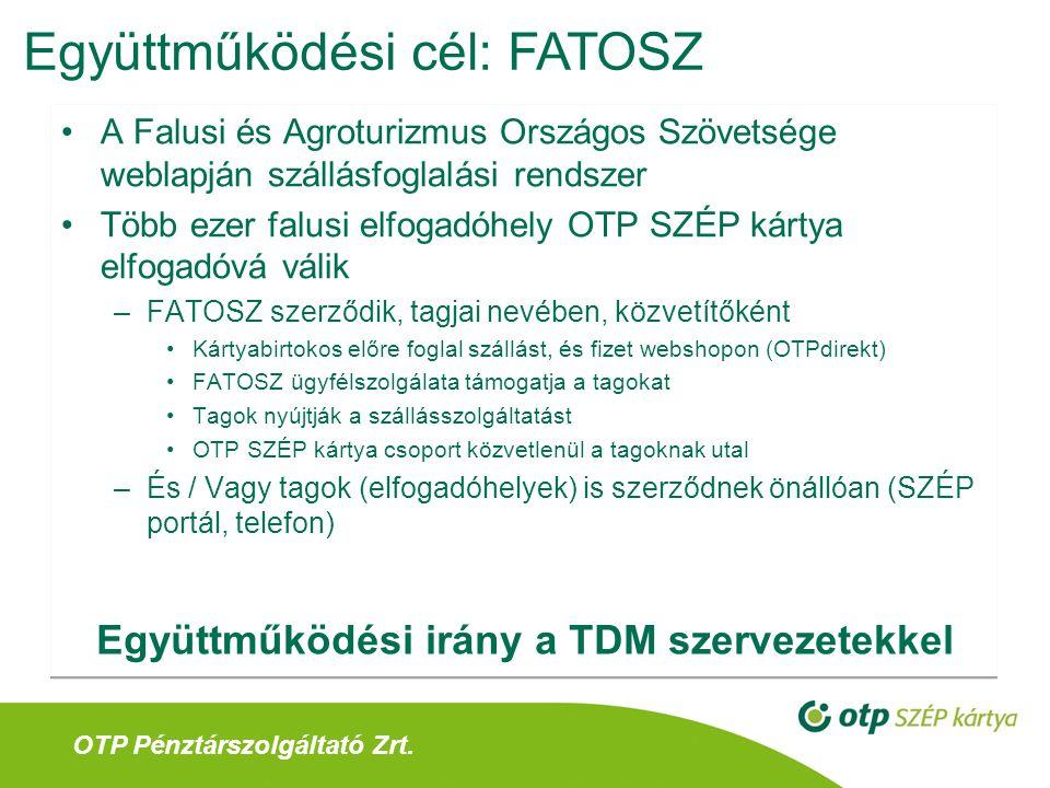 Együttműködési irány a TDM szervezetekkel