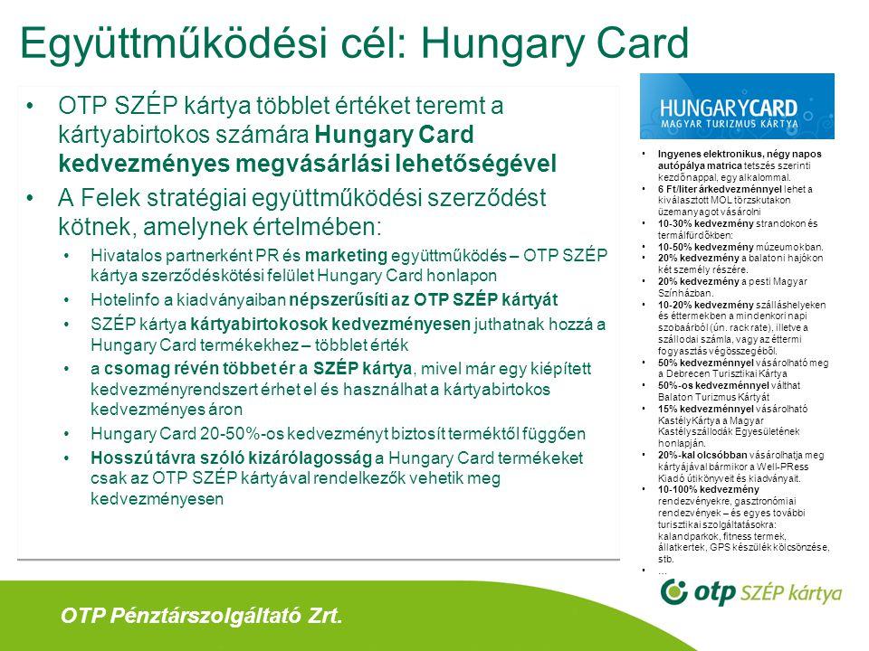 Együttműködési cél: Hungary Card