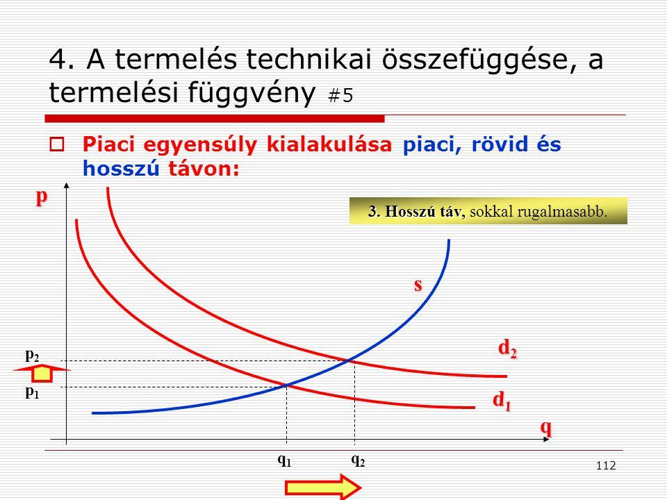 4. A termelés technikai összefüggése, a termelési függvény #5