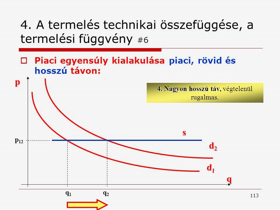 4. A termelés technikai összefüggése, a termelési függvény #6