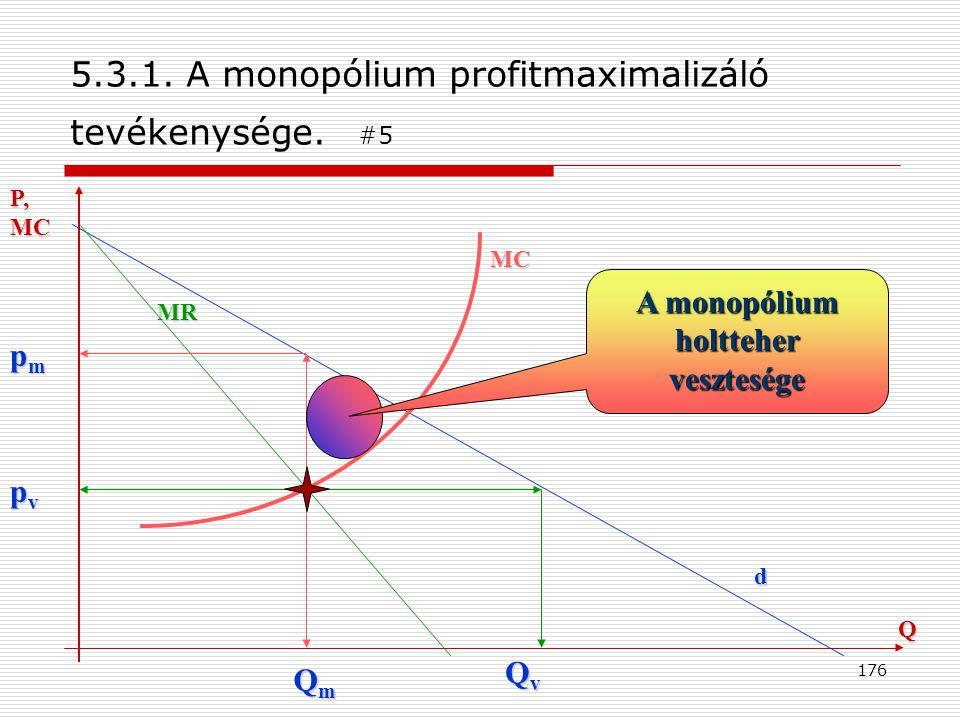 5.3.1. A monopólium profitmaximalizáló tevékenysége. #5