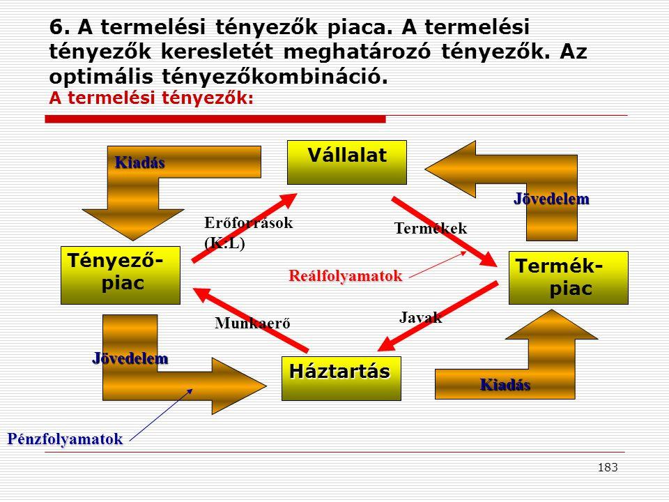 6. A termelési tényezők piaca