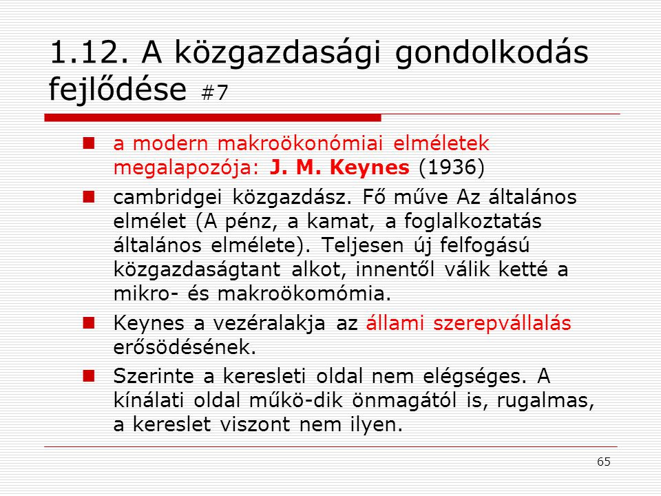 1.12. A közgazdasági gondolkodás fejlődése #7