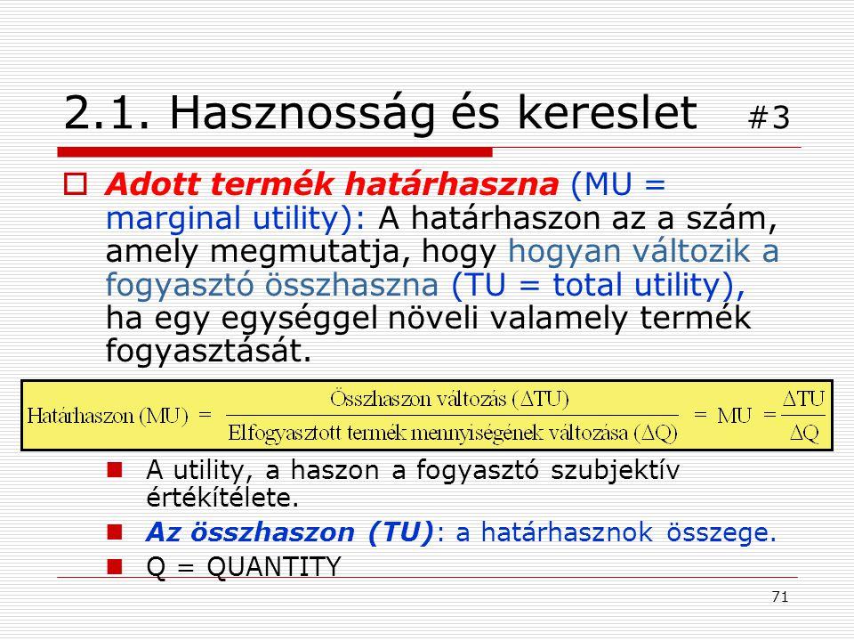 2.1. Hasznosság és kereslet #3