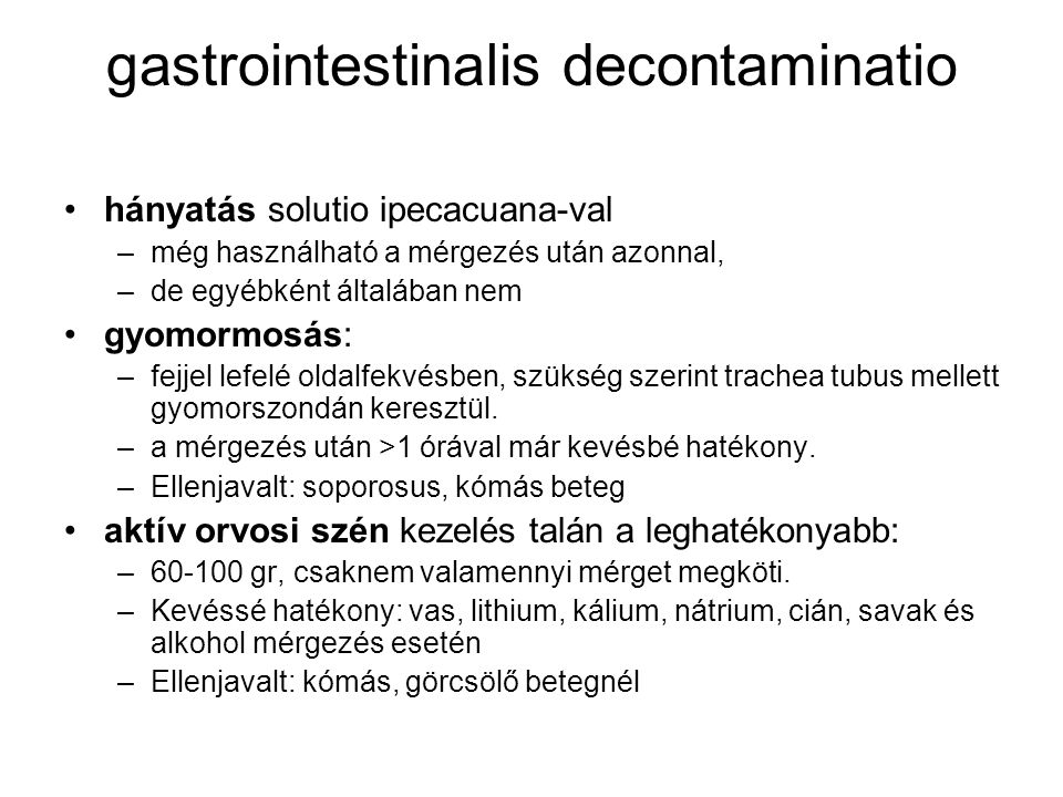 gastrointestinalis decontaminatio