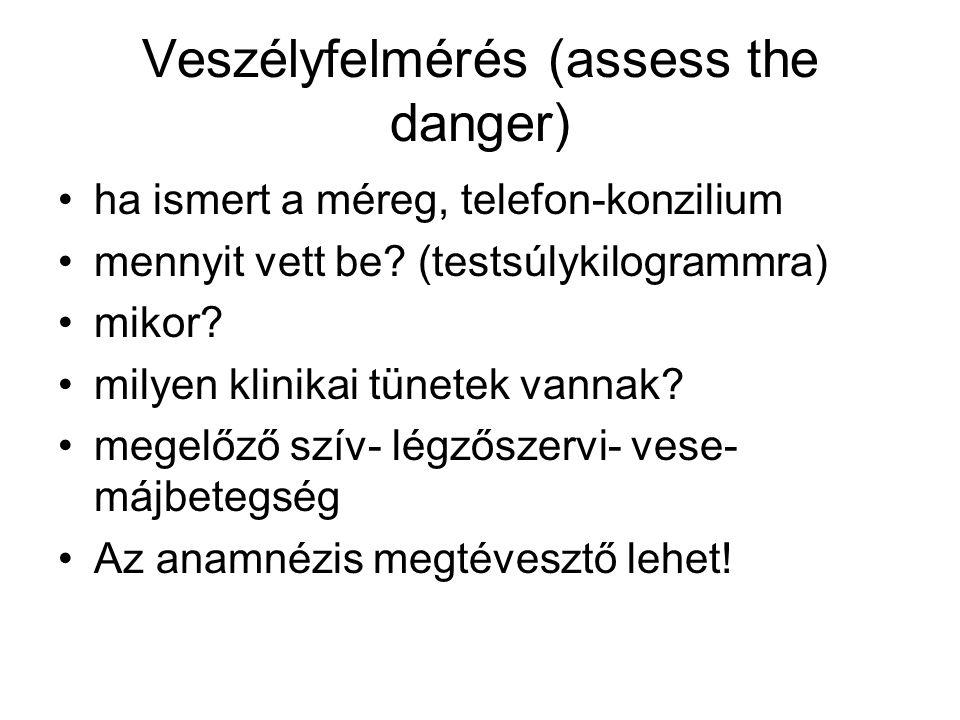 Veszélyfelmérés (assess the danger)