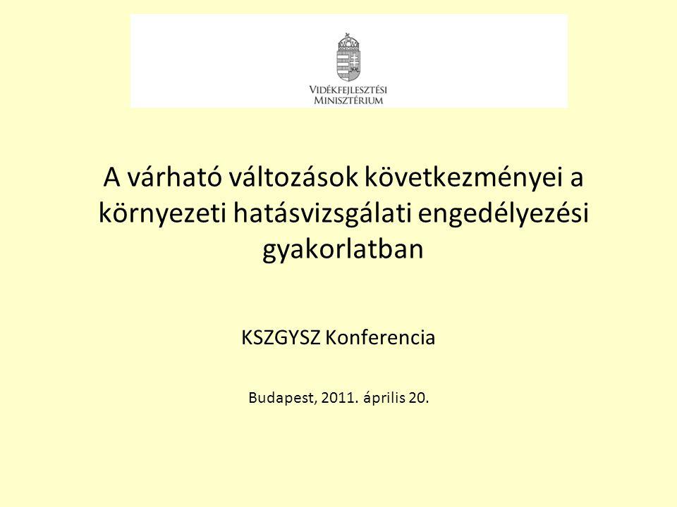 KSZGYSZ Konferencia Budapest, 2011. április 20.