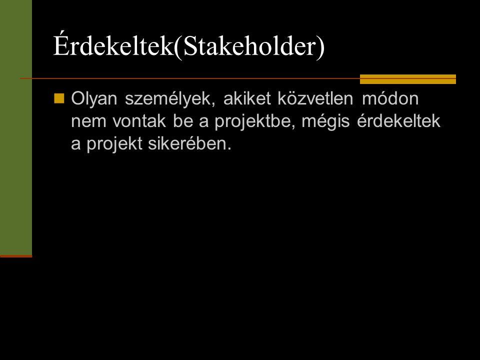 Érdekeltek(Stakeholder)