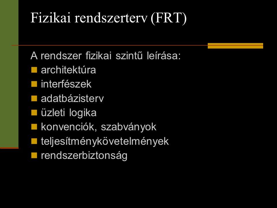 Fizikai rendszerterv (FRT)