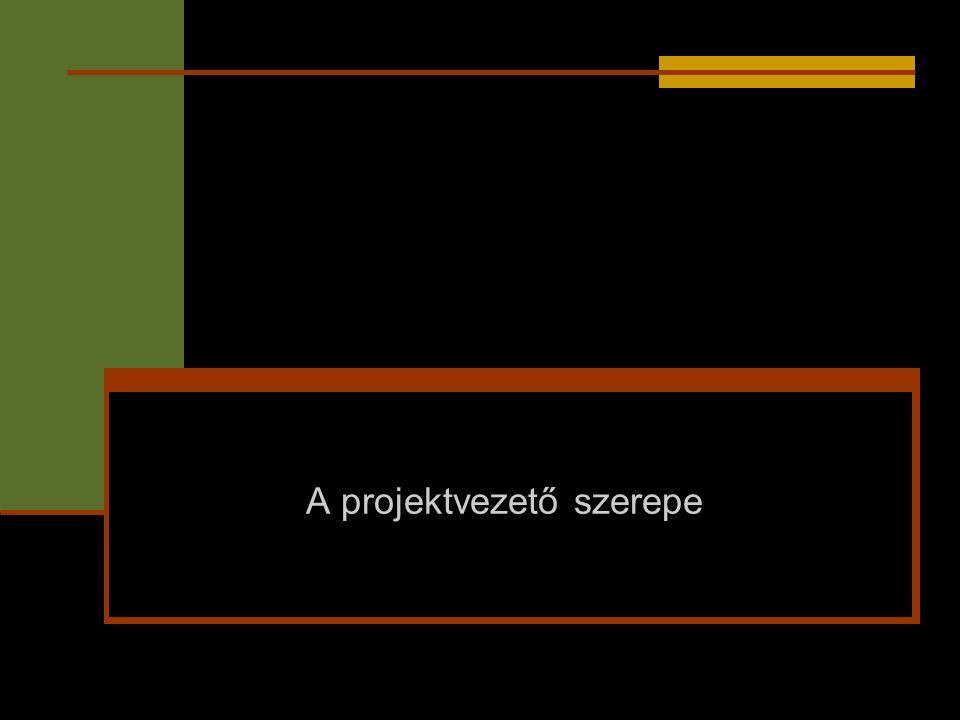 A projektvezető szerepe