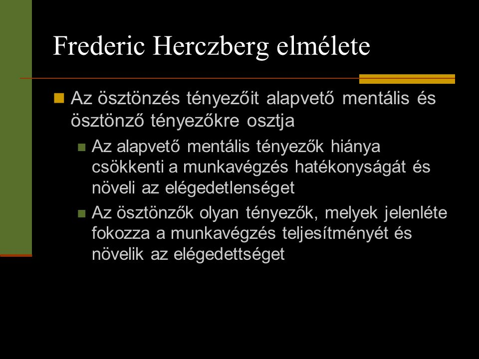 Frederic Herczberg elmélete