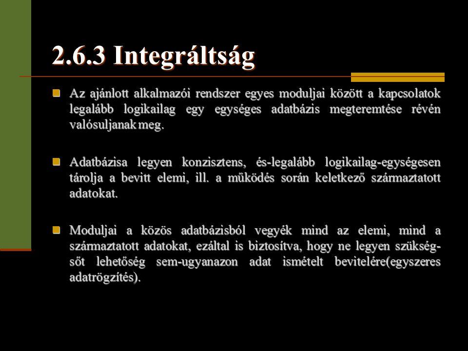 2.6.3 Integráltság