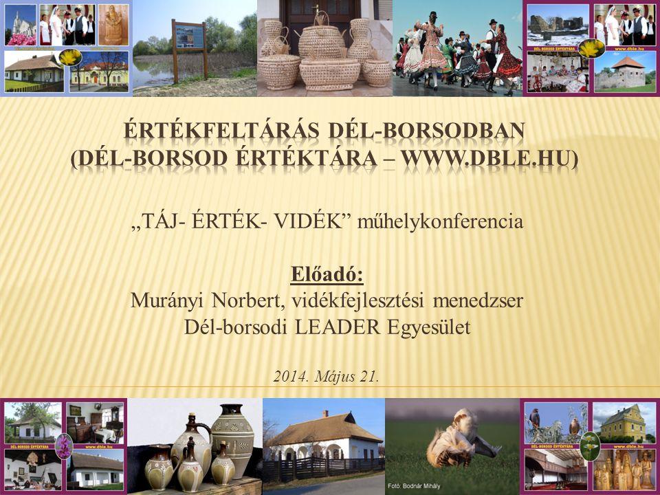 Értékfeltárás Dél-borsodban (Dél-Borsod Értéktára – www.dble.hu)