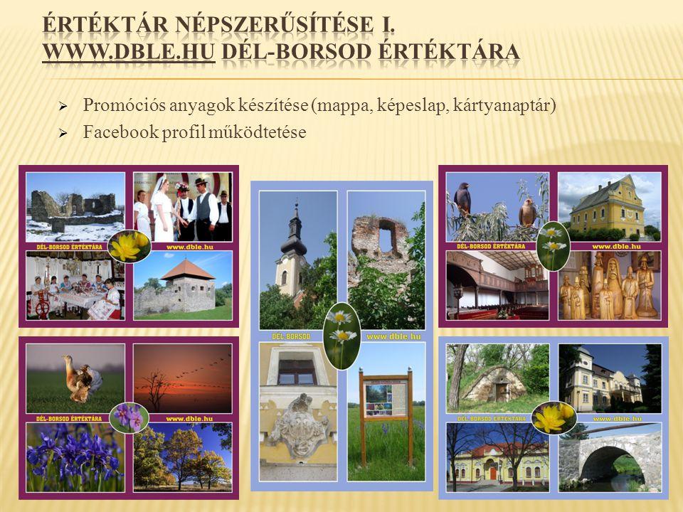 ÉRTÉKTÁR NÉPSZERŰSÍTÉSE I. www.dble.hu DÉL-BORSOD ÉRTÉKTÁRA