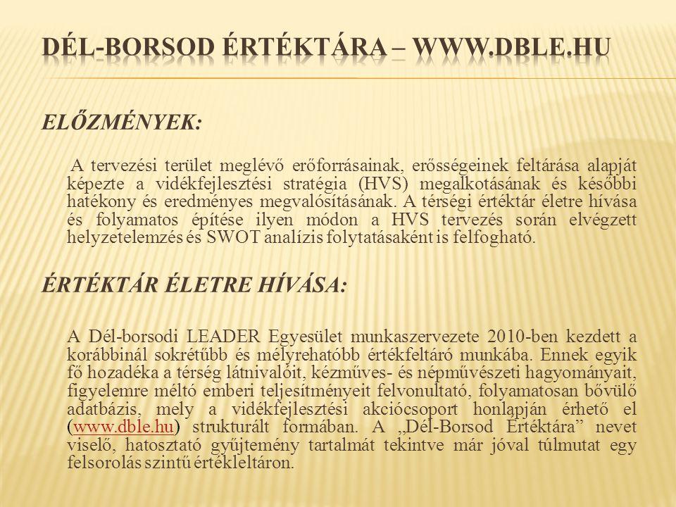 DÉL-BORSOD ÉRTÉKTÁRA – www.dble.hu