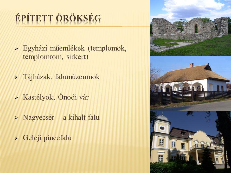 ÉPÍTETT ÖRÖKSÉG Egyházi műemlékek (templomok, templomrom, sírkert)