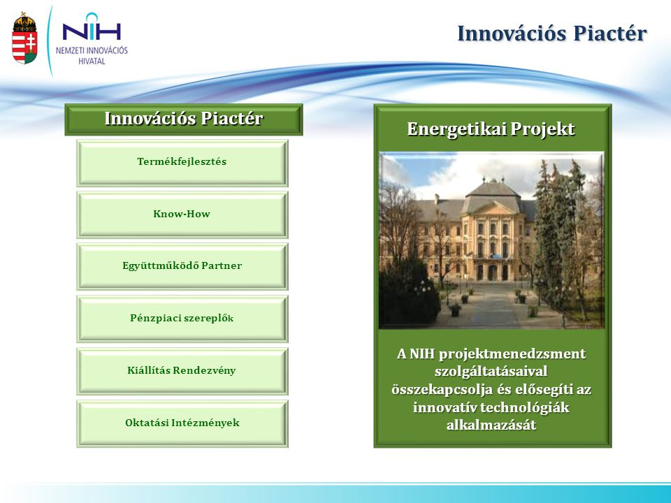 Innovációs Piactér Innovációs Piactér Energetikai Projekt