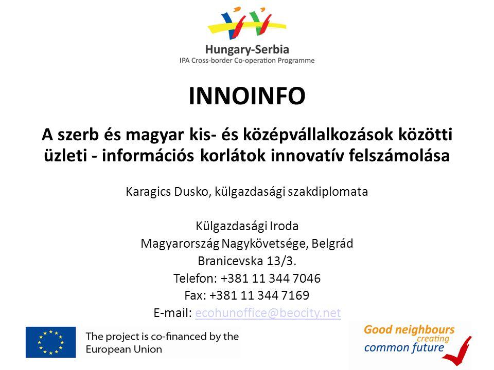 INNOINFO A szerb és magyar kis- és középvállalkozások közötti üzleti - információs korlátok innovatív felszámolása.