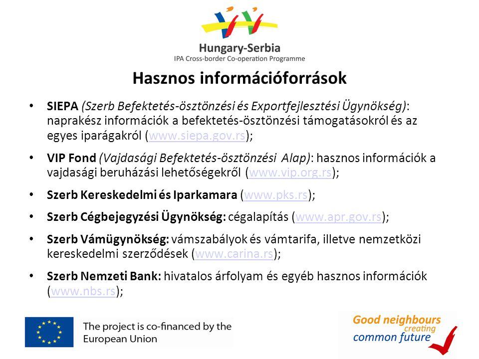 Hasznos információforrások