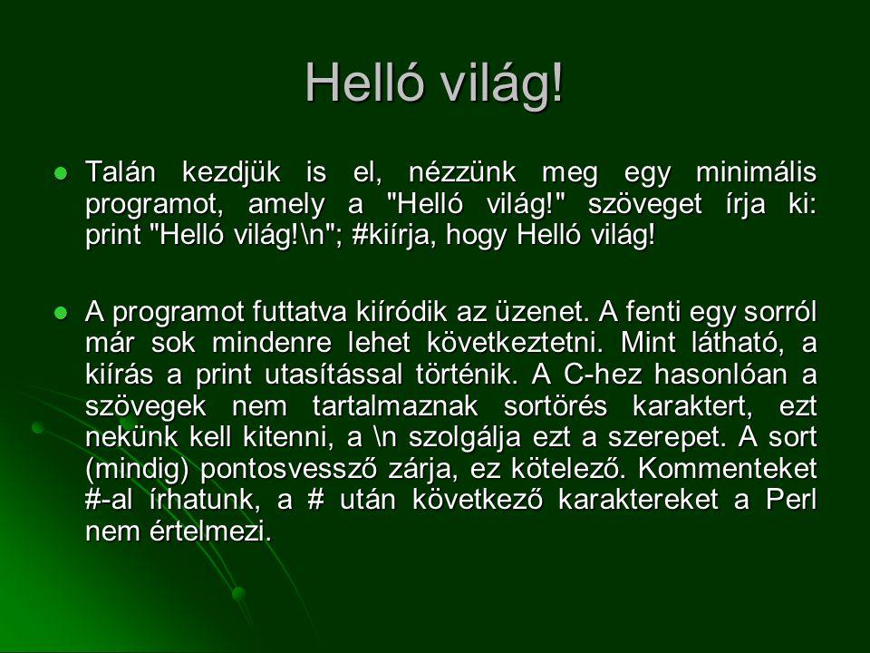 Helló világ!