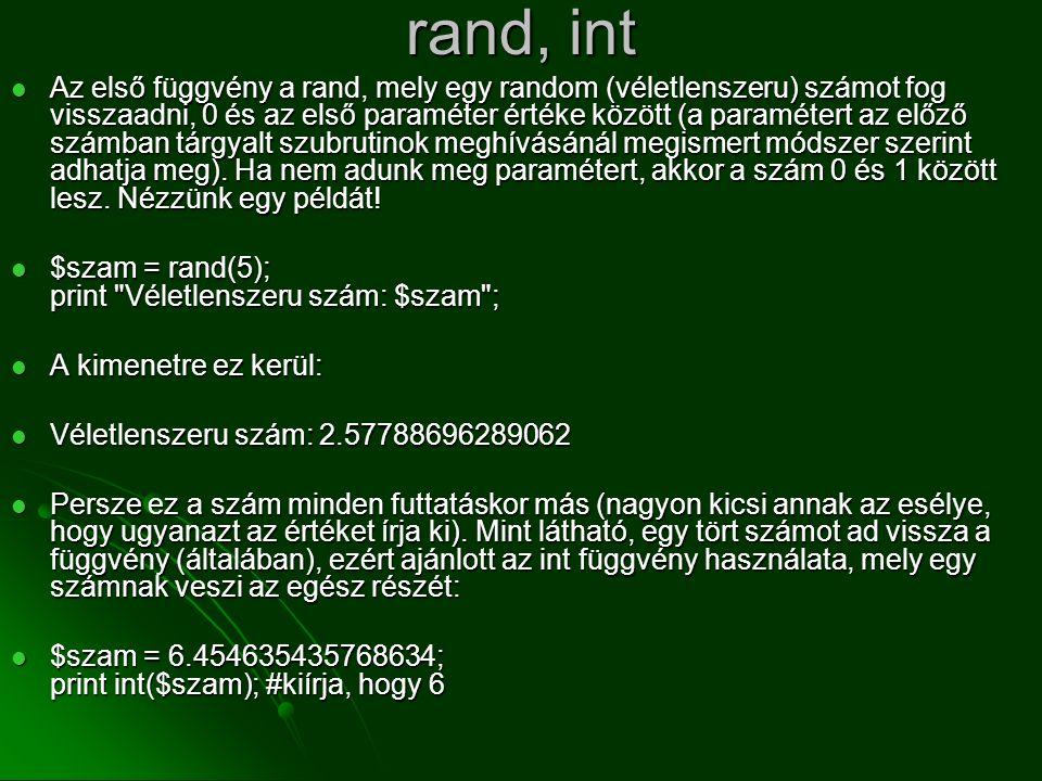 rand, int