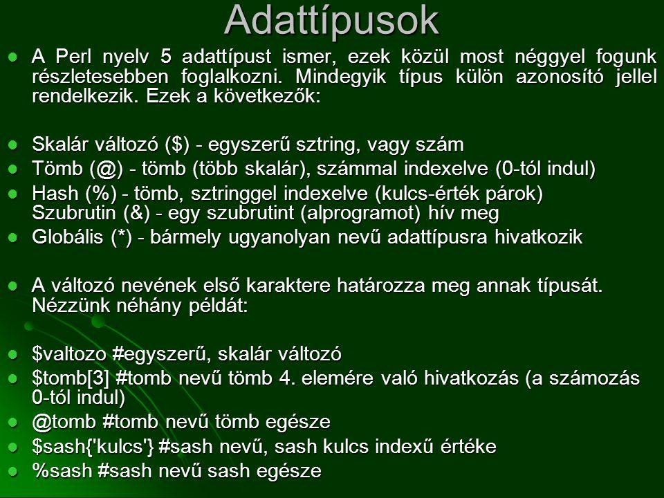 Adattípusok