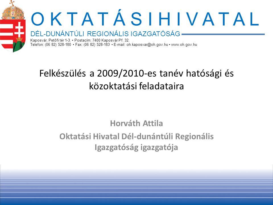 Felkészülés a 2009/2010-es tanév hatósági és közoktatási feladataira