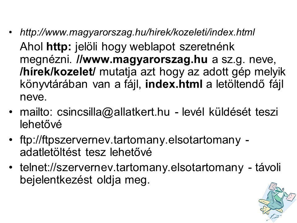 mailto: csincsilla@allatkert.hu - levél küldését teszi lehetővé