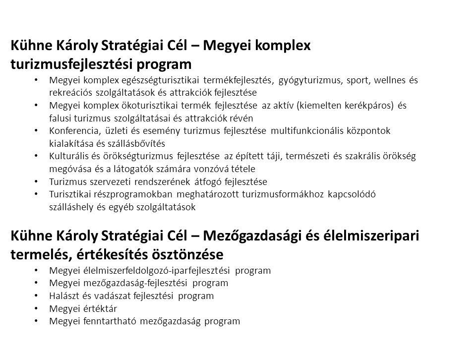 Kühne Károly Stratégiai Cél – Megyei komplex turizmusfejlesztési program