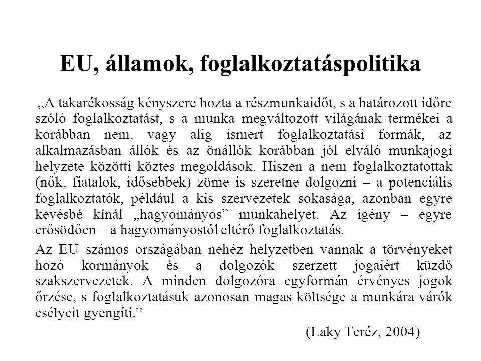 EU, államok, foglalkoztatáspolitika