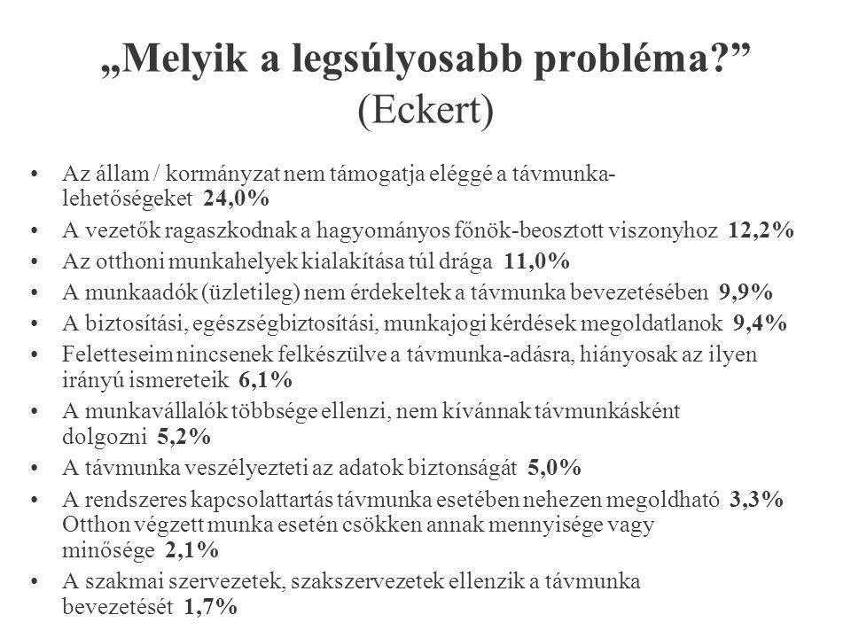 """""""Melyik a legsúlyosabb probléma (Eckert)"""