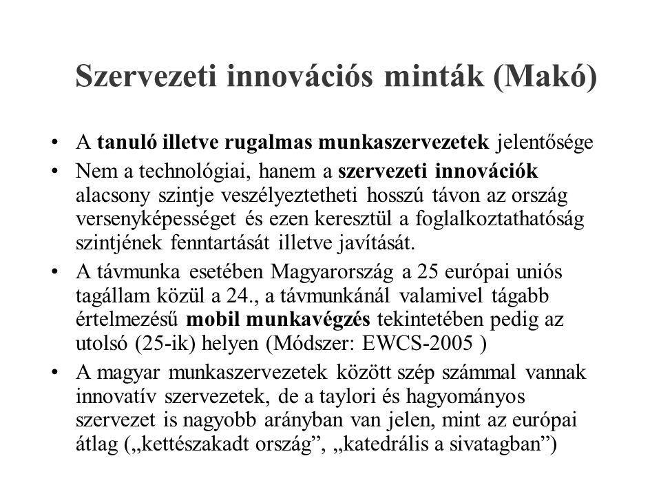 Szervezeti innovációs minták (Makó)