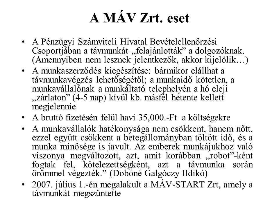 A MÁV Zrt. eset