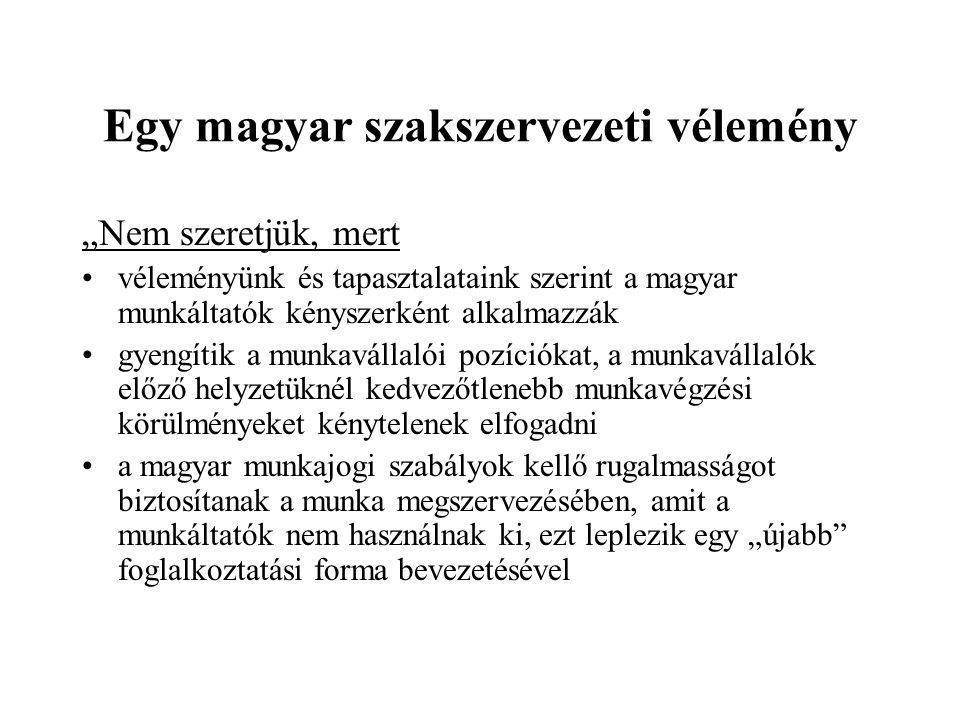 Egy magyar szakszervezeti vélemény