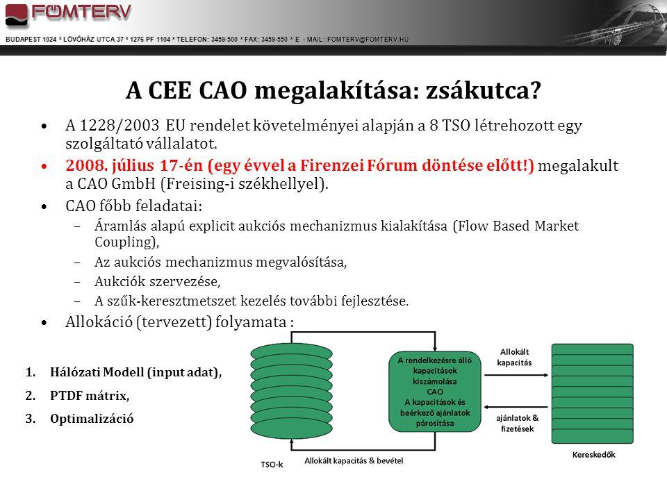 A CEE CAO megalakítása: zsákutca