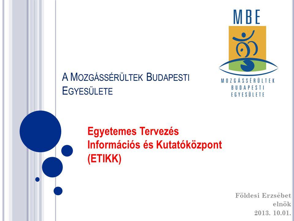 A Mozgássérültek Budapesti Egyesülete