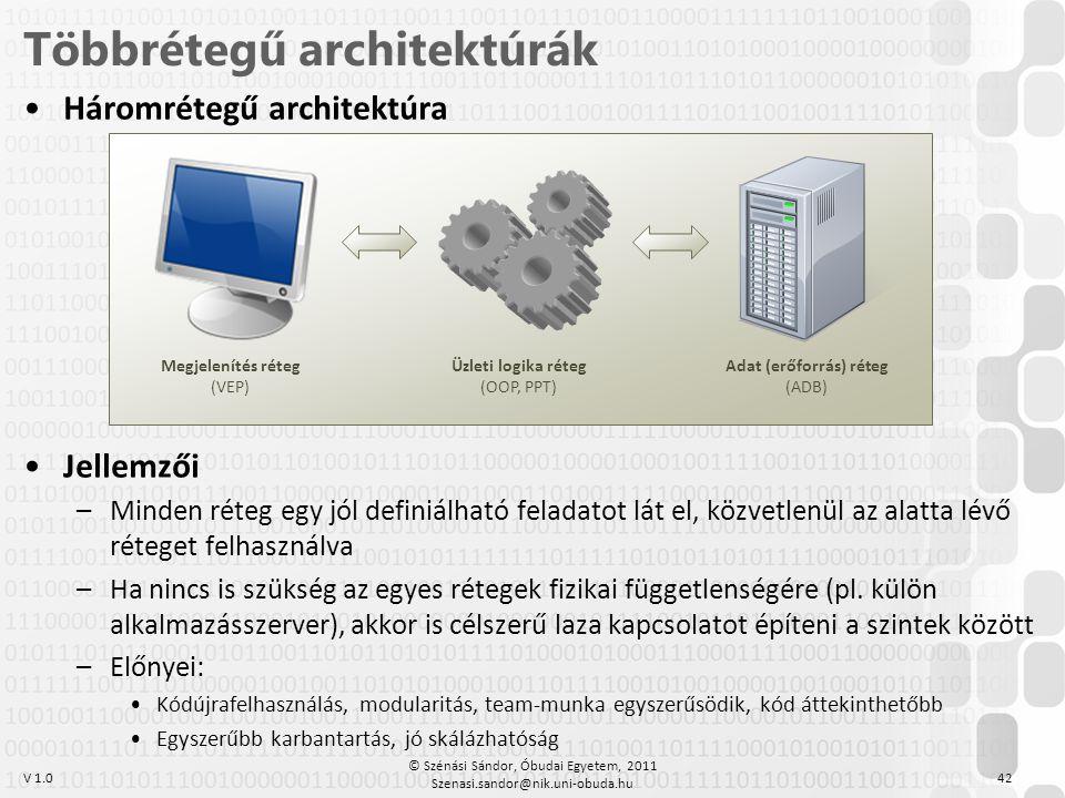 Többrétegű architektúrák