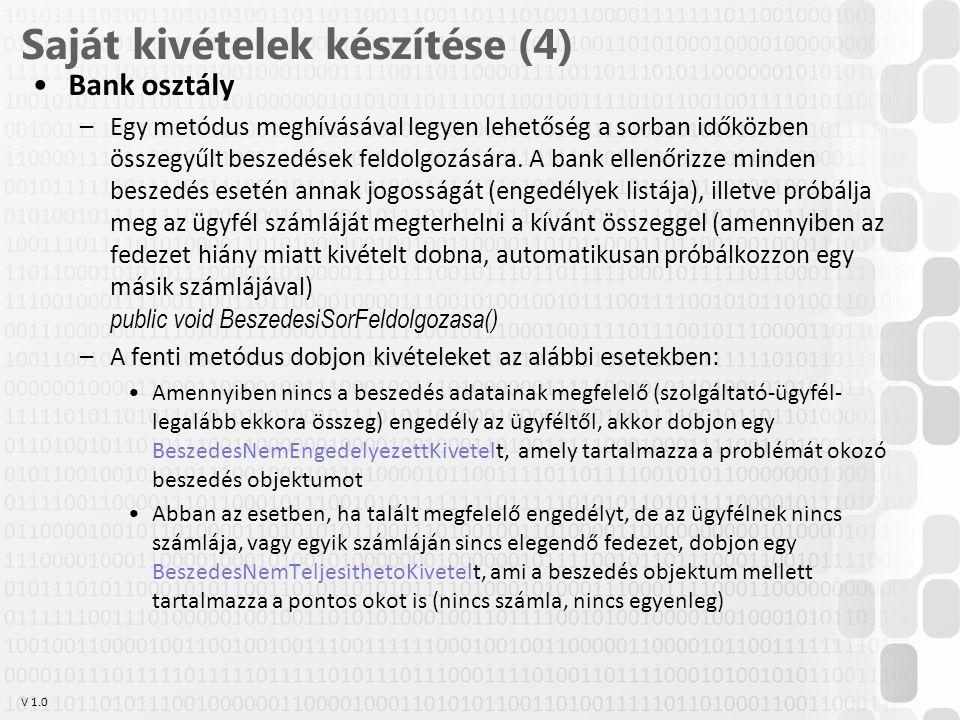 Saját kivételek készítése (4)