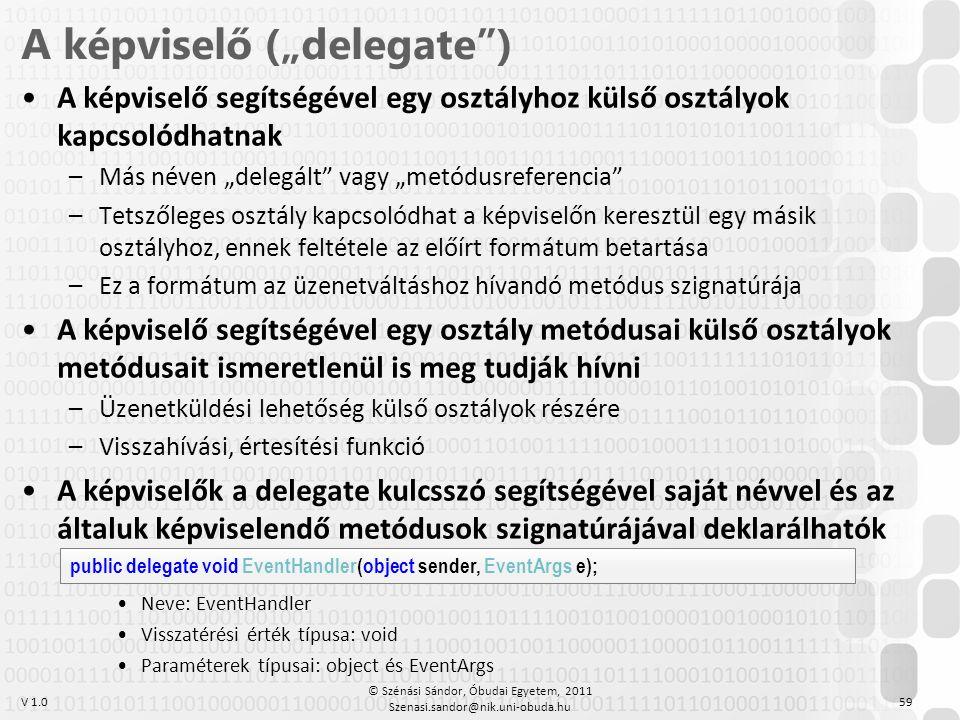 """A képviselő (""""delegate )"""