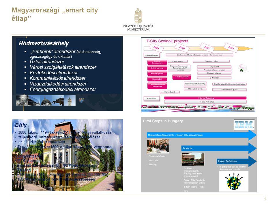 """Magyarországi """"smart city étlap"""